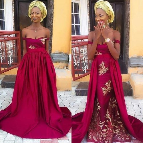 kaba-and-slit-outfit-for-brides-500x500 Ghanaian Women Kaba and Slit- 20 Beautiful Kaba Outfit Ideas