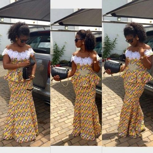 kaba-and-slit-peplum-outfits-500x500 Ghanaian Women Kaba and Slit- 20 Beautiful Kaba Outfit Ideas