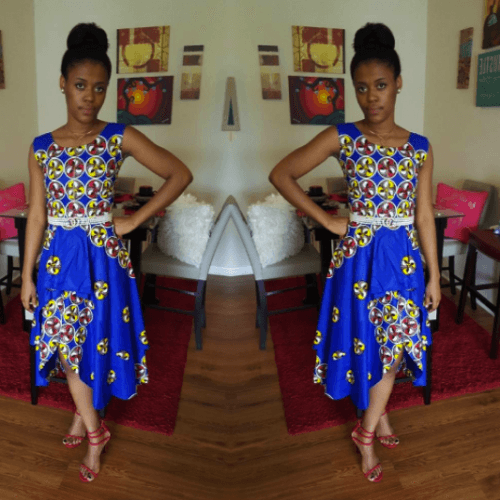 kaba-street-style-dress-500x500 Ghanaian Women Kaba and Slit- 20 Beautiful Kaba Outfit Ideas