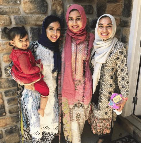 printed-floral-kameez-with-hijab-491x500 Hijab with Floral Outfits-20 Ways to Wear Hijab with Florals
