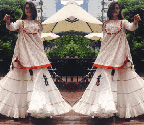 desi-gharara-pants-attire-500x434 Gharara Pant Outfits-20 Beautiful Outfits with Gharara Pants