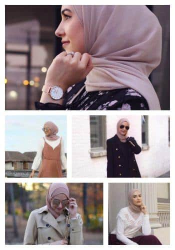different-outfits-with-one-hijab-350x500 Travelling in Hijab - 20 Travelling Tips for Stylish Hijabis