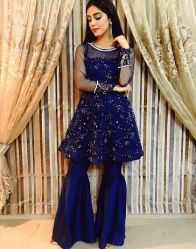 formal-gharara-pants-outfit-395x500 Gharara Pant Outfits-20 Beautiful Outfits with Gharara Pants