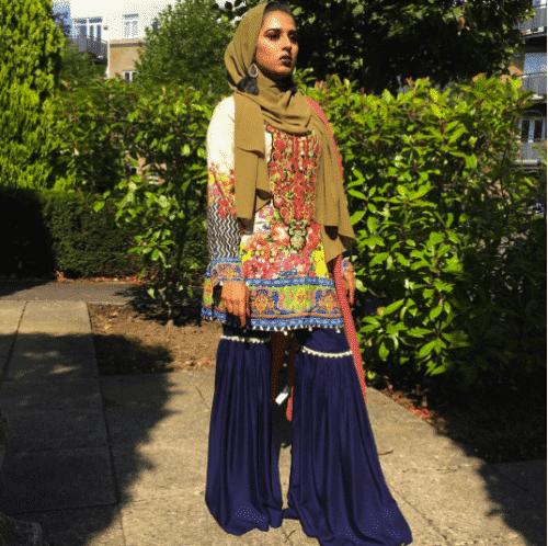 funky-gharara-pants-outfit-500x498 Gharara Pant Outfits-20 Beautiful Outfits with Gharara Pants