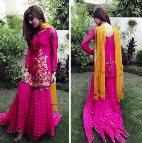 gharara-pants-outfit-495x500 Gharara Pant Outfits-20 Beautiful Outfits with Gharara Pants