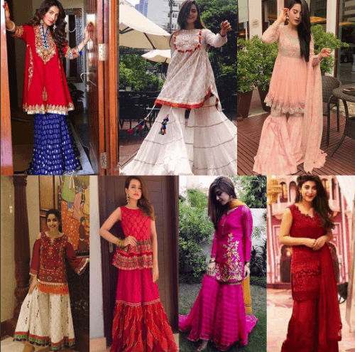 how-to-wear-gharara-pants-500x495 Gharara Pant Outfits-20 Beautiful Outfits with Gharara Pants