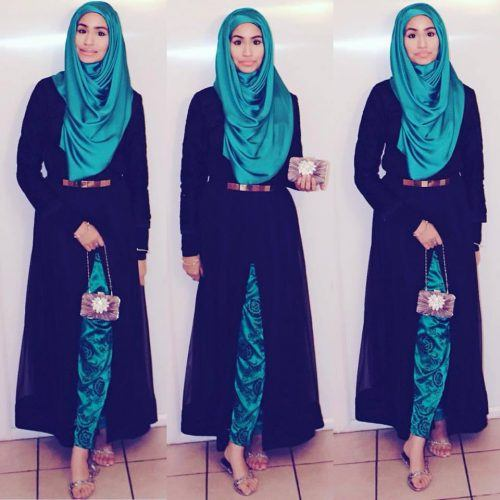 abaya-hijab-with-shalwar-kameez-500x500 21 Best Ways to Wear Hijab with Shalwar Kameez Elegantly