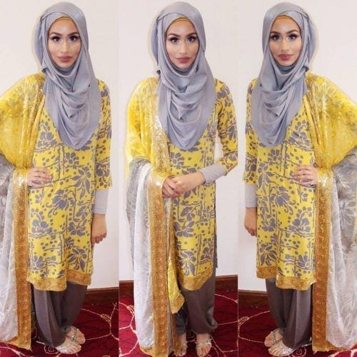 eid-shalwar-kameez-with-hijab-500x500 21 Best Ways to Wear Hijab with Shalwar Kameez Elegantly