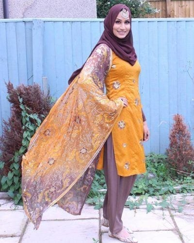 hijab-with-shalwar-kameez-1-400x500 21 Best Ways to Wear Hijab with Shalwar Kameez Elegantly