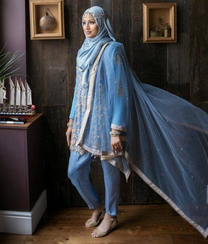 hijab-with-shalwar-kamiz-1-427x500 21 Best Ways to Wear Hijab with Shalwar Kameez Elegantly
