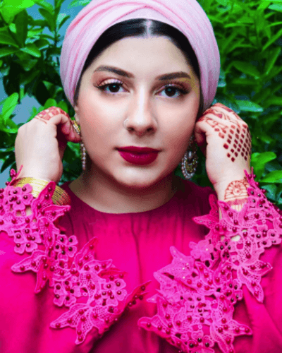 turban-hijab-with-shalwar-kameez-400x500 21 Best Ways to Wear Hijab with Shalwar Kameez Elegantly