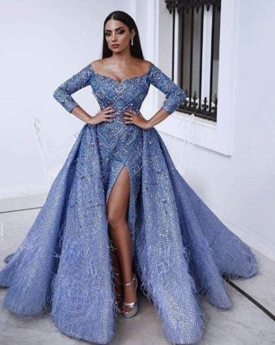 Ice-queen-399x500 30 Latest Nigerian Dresses for Nigerian Brides 2019