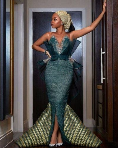 Modern-afronista-400x500 30 Latest Nigerian Dresses for Nigerian Brides 2019