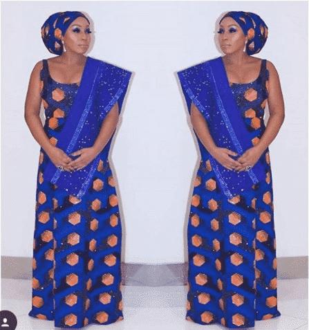 bejewled-ankara-dress 30 Latest Nigerian Dresses for Nigerian Brides 2019