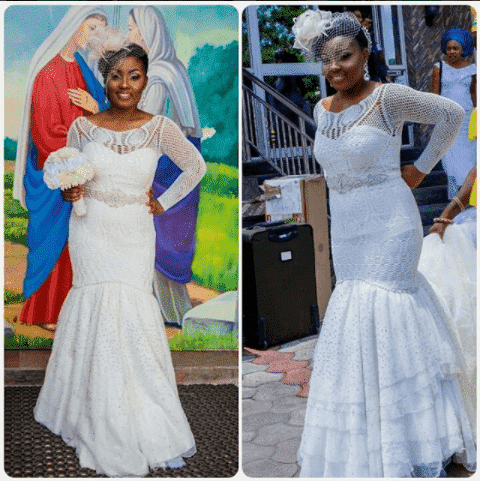 bridal-mermaid-dress 30 Latest Nigerian Dresses for Nigerian Brides 2019