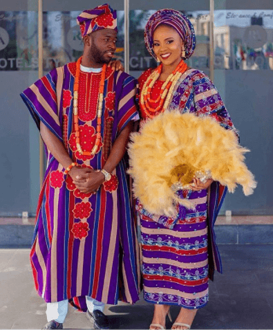colorful-ankara-printed-dress 30 Latest Nigerian Dresses for Nigerian Brides 2019
