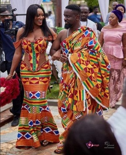 corset-kaba-dress-405x500 30 Latest Nigerian Dresses for Nigerian Brides 2019