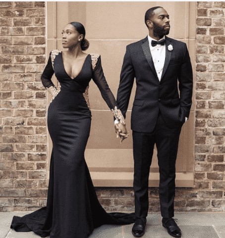 silk-gown-with-shoulders 30 Latest Nigerian Dresses for Nigerian Brides 2019