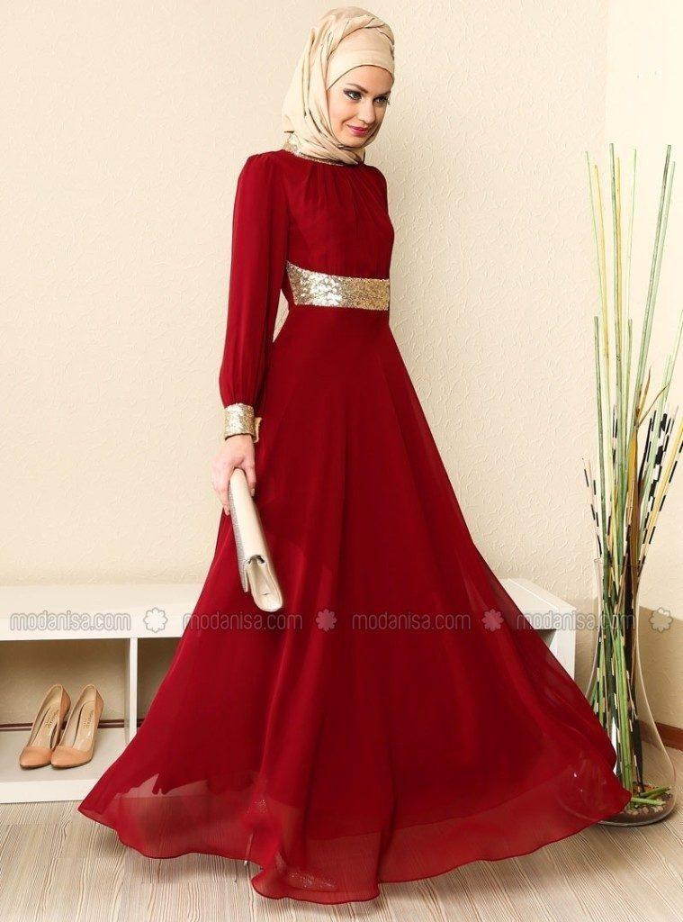 beautiful-gown-for-prom-with-hijab-759x1024 How to Wear Hijab with Gowns ? 20 Modest Ways to Try