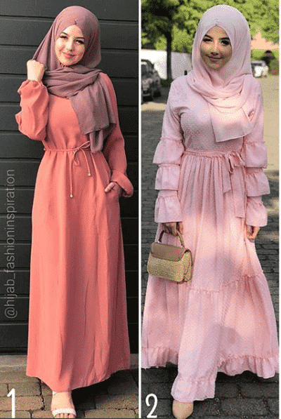 daytime-gowns-with-hijab How to Wear Hijab with Gowns? 30 Modest Ways to Try Now