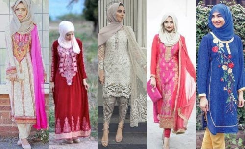 hijab-with-shalwar-kameez-2-500x305 15 Modest Ways for Women To Wear Shalwar Kameez Fashionably