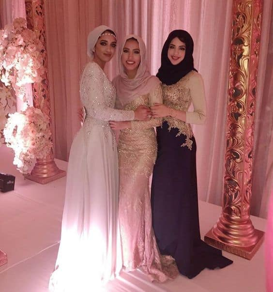 long-prom-gowns-for-hijab How to Wear Hijab with Gowns ? 20 Modest Ways to Try