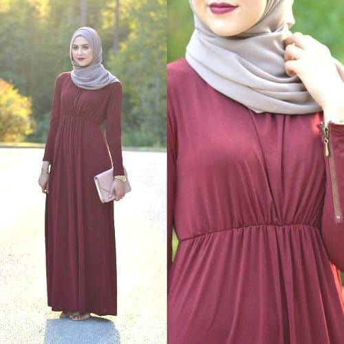 maxi-gown-with-hijab How to Wear Hijab with Gowns ? 20 Modest Ways to Try