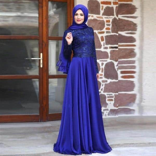 outdoor-gown How to Wear Hijab with Gowns ? 20 Modest Ways to Try