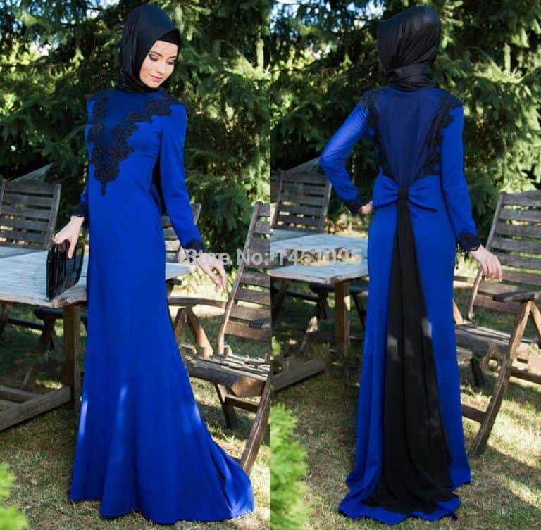 royal-blue-dress-for-prom How to Wear Hijab with Gowns ? 20 Modest Ways to Try