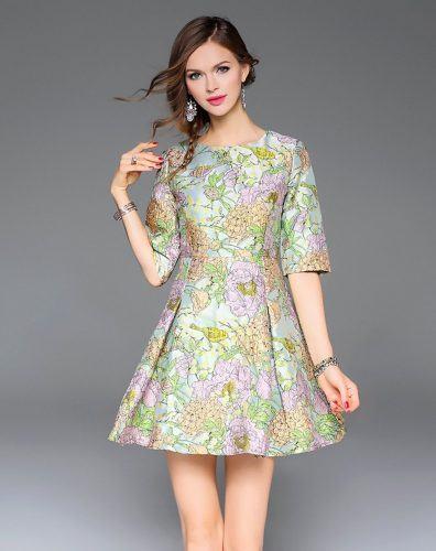 1-floral-jacquard-dress-396x500 Is Jacquard A Good Summer Dress Fabric?