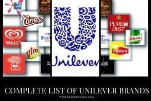 Unilever Brands A Complete List of Unilever Brands 2021