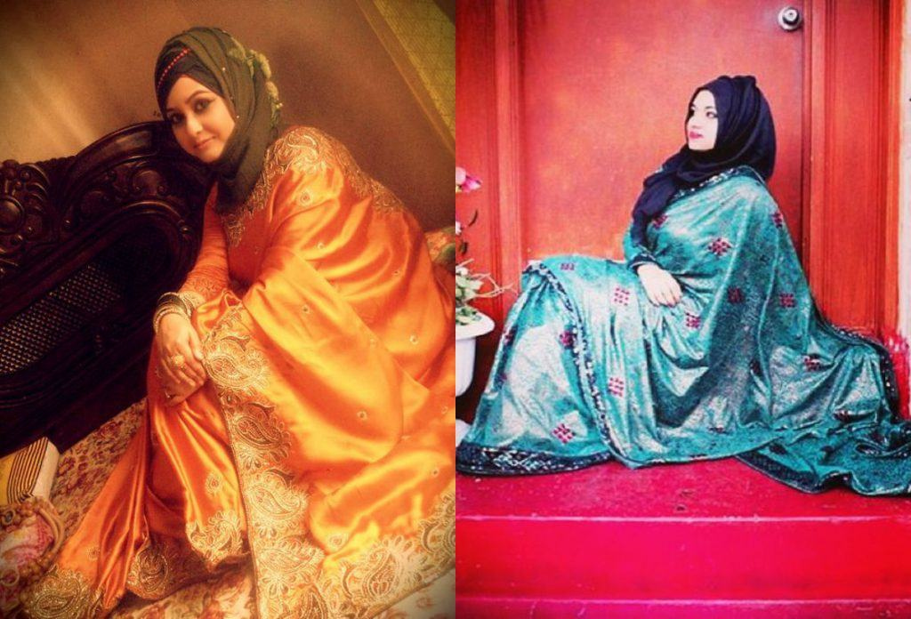 12-1-1024x696 25 Latest Wedding Saree Designs & Ideas for Muslim Brides