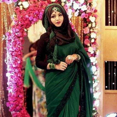 13 25 Latest Wedding Saree Designs & Ideas for Muslim Brides
