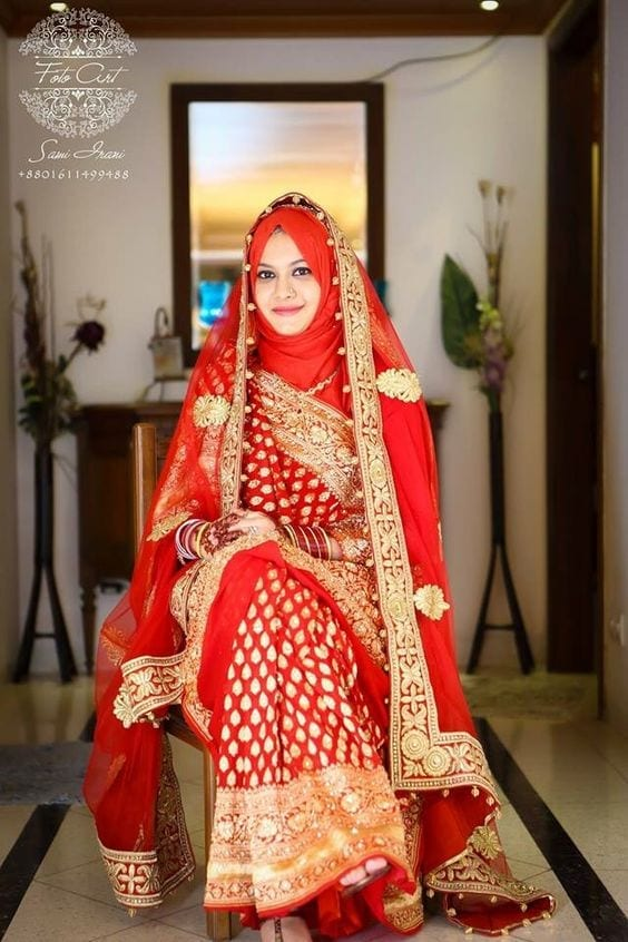 17 25 Latest Wedding Saree Designs & Ideas for Muslim Brides