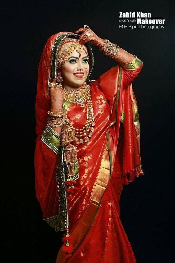 25 Latest Wedding Saree Designs & Ideas for Muslim Brides