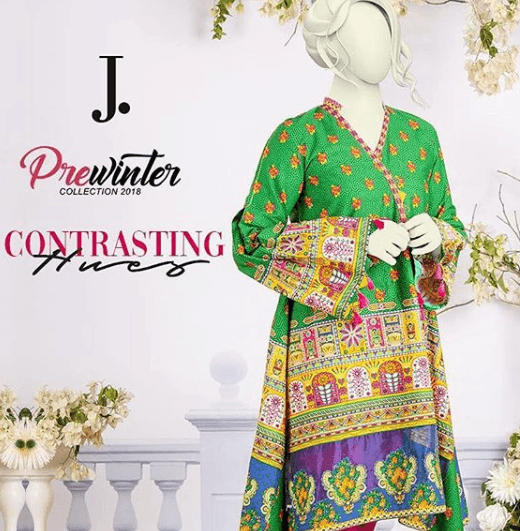 j.-top-fashion-brand 10 Best Pakistani Winter Clothing Brands For Women In 2020