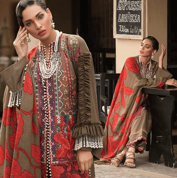 sana-safinaz-top-fashion-brand 10 Best Pakistani Winter Clothing Brands For Women In 2020