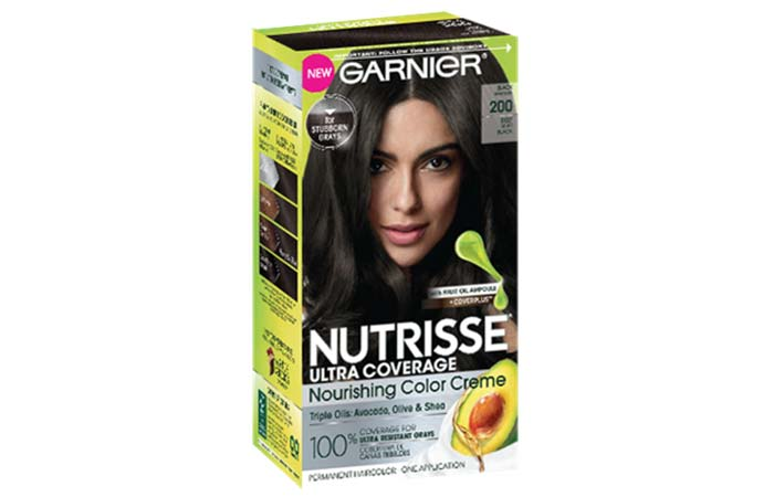 2.-Garnier-Nutrisse-Ultra-Coverage-Nourishing-Color-Creme-–-200-Black-Sesame Top 10 Black Hair Dyes For Women 2019 with Price Details