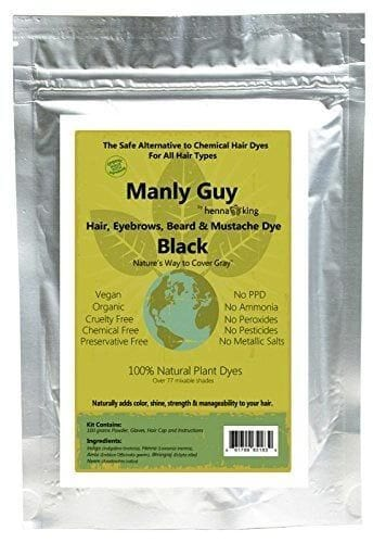 Manly-Guy-BLACK-Hair Best Hair Dyes For Men - Top 10 Men's Hair Dye Color Brands