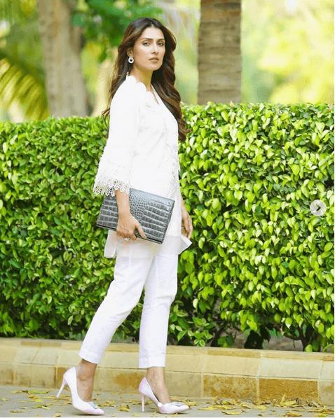 ayeza-khan 24 Ways to Wear All White Outfits Like Pakistani Celebrities