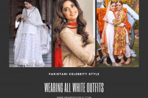 how to wear all white outfits like pakistani celebrities