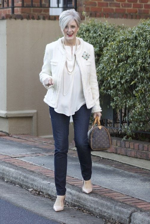 Denim-style 20 Best Fall Outfits For Women Over 60 - Fall Dressing Ideas