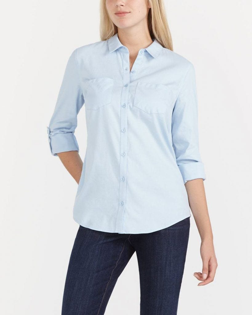 button-down-819x1024 20 Best Fall Outfits For Women Over 60 - Fall Dressing Ideas