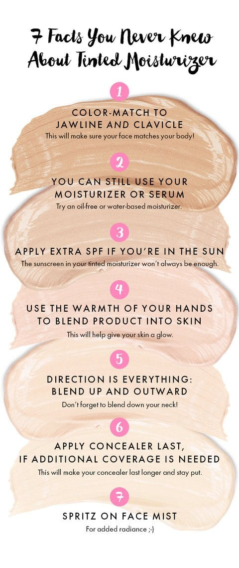 tinted-moisturizer-infographic Best SPF Moisturizers-Top 10 Moisturizers With SPF For Women