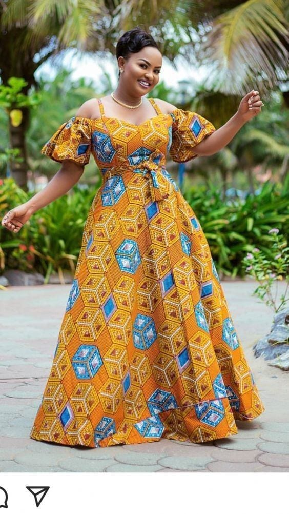 5 20 Gorgeous Ankara Gown Styles & Ideas On How To Wear Them