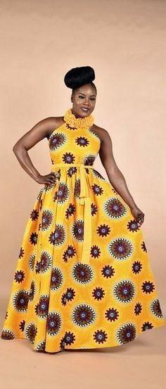 7 20 Gorgeous Ankara Gown Styles & Ideas On How To Wear Them