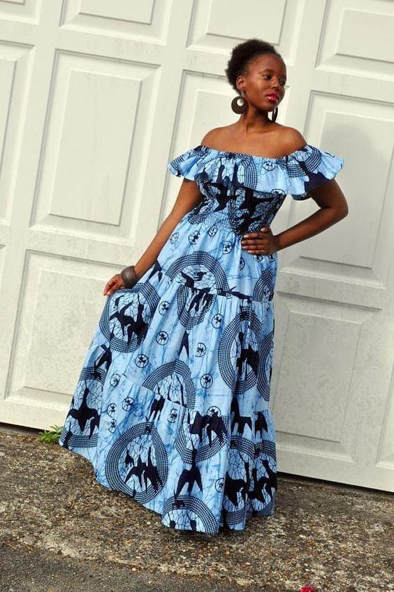 8 20 Gorgeous Ankara Gown Styles & Ideas On How To Wear Them