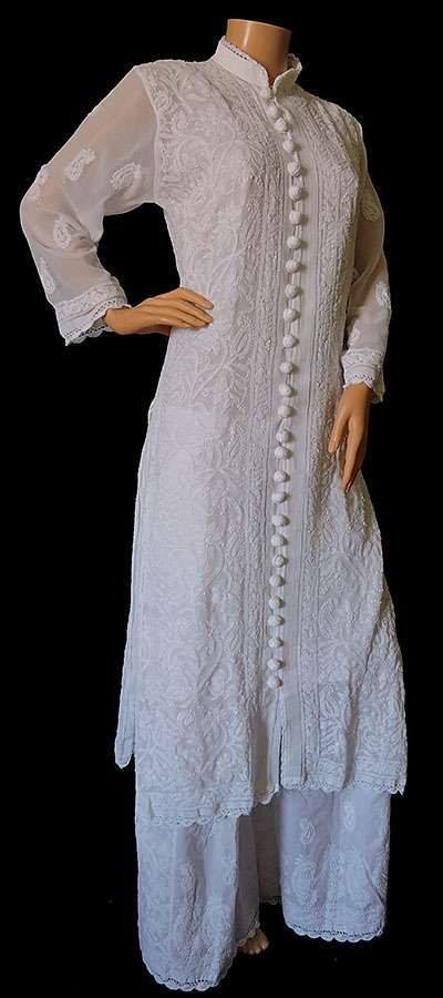 09 30 Ideas On How To Wear White Shalwar Kameez For Women