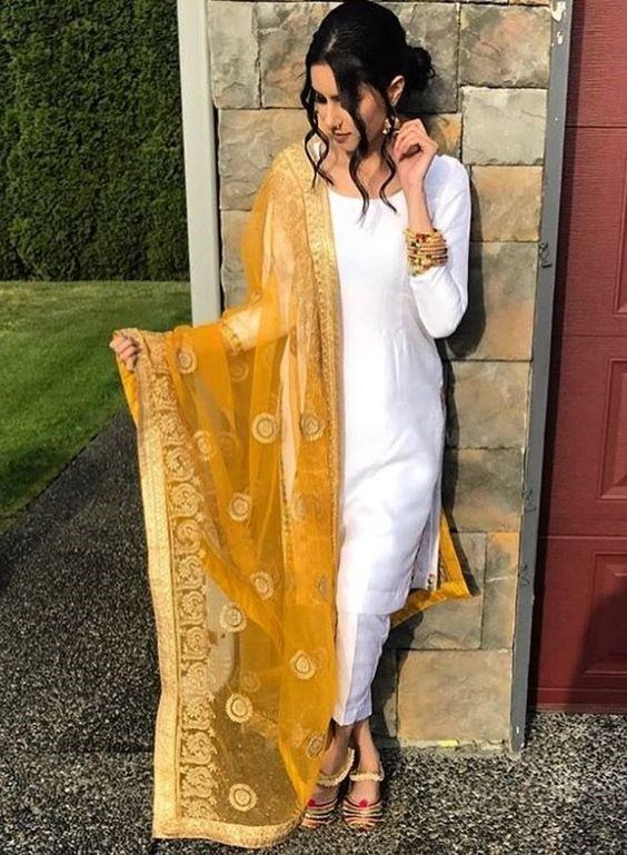 1 30 Ideas On How To Wear White Shalwar Kameez For Women