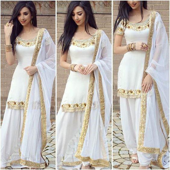 White Shalwar Kameez Styling Ideas (11)